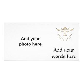 "Golden ""3-D"" Ascent of The Holy Spirit Card"
