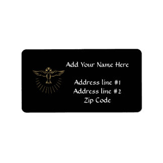 "Golden ""3-D"" Ascent of The Holy Spirit Label"