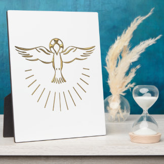 "Golden ""3-D"" Ascent of The Holy Spirit Plaque"