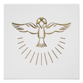 "Golden ""3-D"" Ascent of The Holy Spirit Poster"