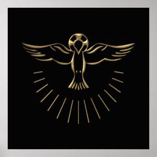 "Golden ""3-D"" Ascent of The Holy Spirit Poster"