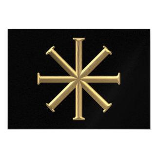 """Golden """"3-D"""" Baptismal Cross Card"""