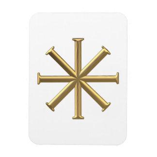 "Golden ""3-D"" Baptismal Cross Magnet"