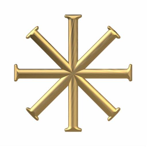 Golden 3 D Baptismal Cross Photo Cut Out Zazzle