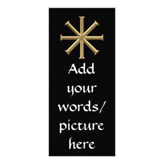 """Golden """"3-D"""" Baptismal Cross Rack Card"""