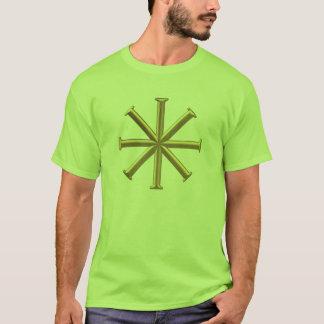 """Golden """"3-D"""" Baptismal Cross T-Shirt"""