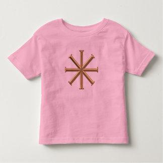 """Golden """"3-D"""" Baptismal Cross Toddler T-shirt"""