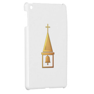 """Golden """"3-D"""" Bell Tower iPad Mini Covers"""