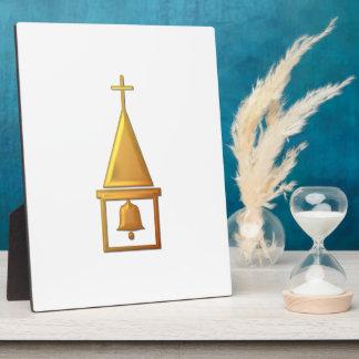 """Golden """"3-D"""" Bell Tower Plaque"""