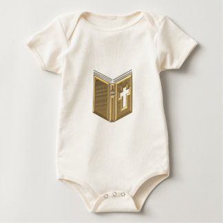 "Golden ""3-D"" Bible / Prayerbook / Hymnal Baby Bodysuit"