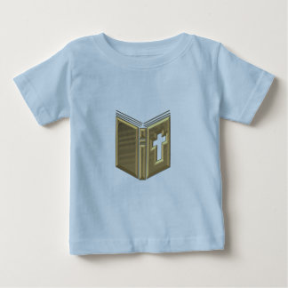 "Golden ""3-D"" Bible / Prayerbook / Hymnal Baby T-Shirt"