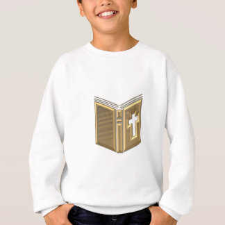 "Golden ""3-D"" Bible / Prayerbook / Hymnal Sweatshirt"