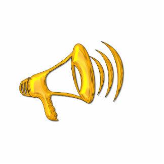 """Golden """"3-D"""" Bullhorn Cutout"""