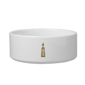 "Golden ""3-D"" Candle Bowl"
