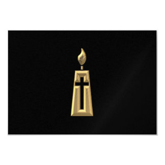 "Golden ""3-D"" Candle Card"