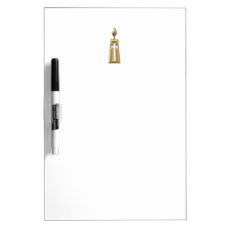 "Golden ""3-D"" Candle Dry-Erase Board"