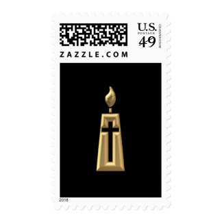"""Golden """"3-D"""" Candle Stamp"""