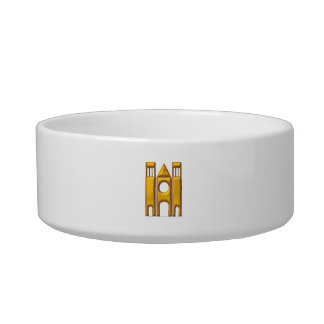 "Golden ""3-D"" Cathedral 2 Bowl"