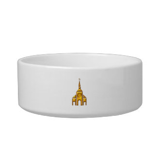 "Golden ""3-D"" Cathedral Bowl"