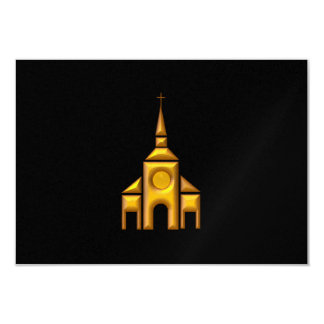 """Golden """"3-D"""" Cathedral Card"""