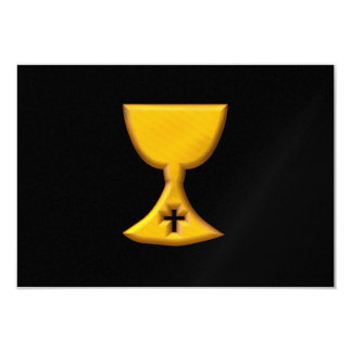 "Golden ""3-D"" Chalice Card"