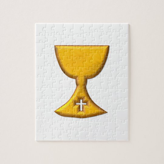 """Golden """"3-D"""" Chalice Jigsaw Puzzle"""
