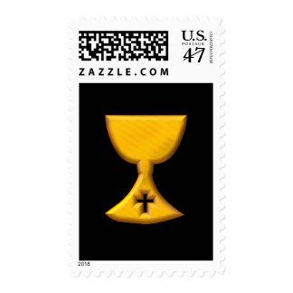 "Golden ""3-D"" Chalice Postage"