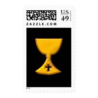 """Golden """"3-D"""" Chalice Stamps"""