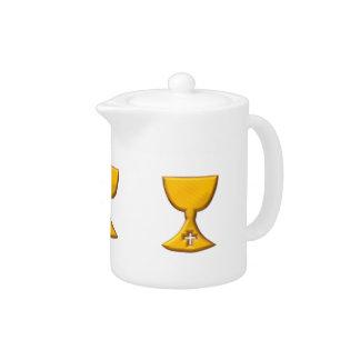 "Golden ""3-D"" Chalice Teapot"