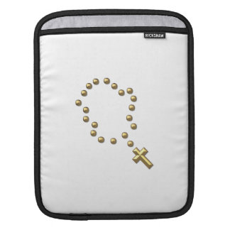 """Golden """"3-D"""" Chaplet or Rosary Sleeve For iPads"""