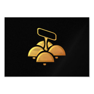 """Golden """"3-D"""" Church Bells Card"""
