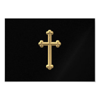 """Golden """"3-D"""" Cross 2 Card"""