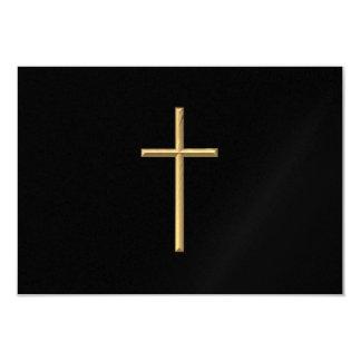 """Golden """"3-D"""" Cross Card"""