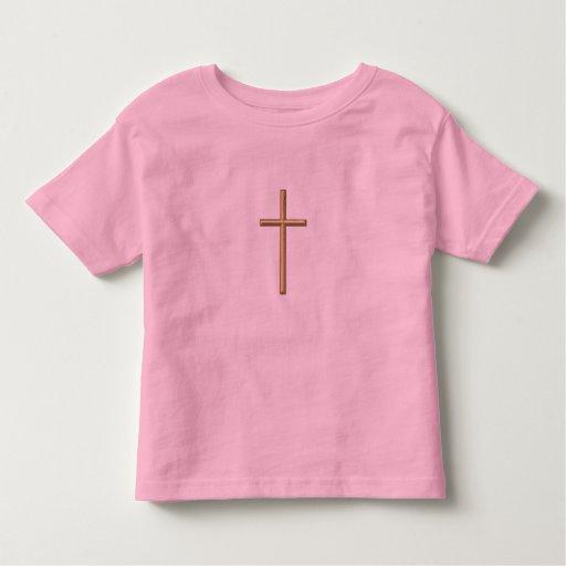 """Golden """"3-D"""" Cross Toddler T-shirt"""