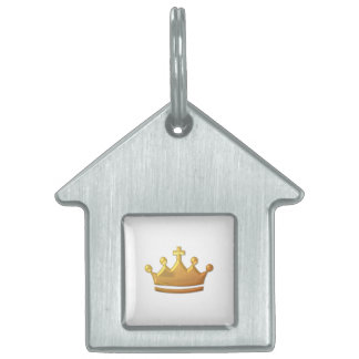"Golden ""3-D"" Crown Pet ID Tag"