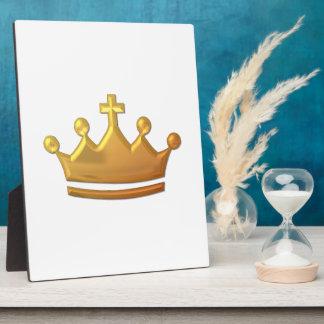 "Golden ""3-D"" Crown Plaque"