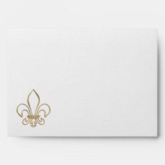 """Golden """"3-D"""" Fleur-de-lis Envelope"""