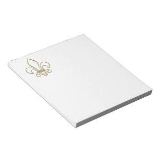 Golden 3-D Fleur-de-lis Memo Notepad