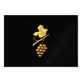 "Golden ""3-D"" Grapes Personalized Invite"