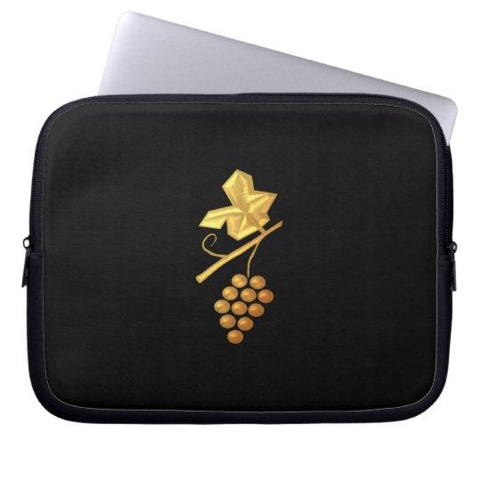 """Golden """"3-D"""" Grapes Laptop Sleeve"""