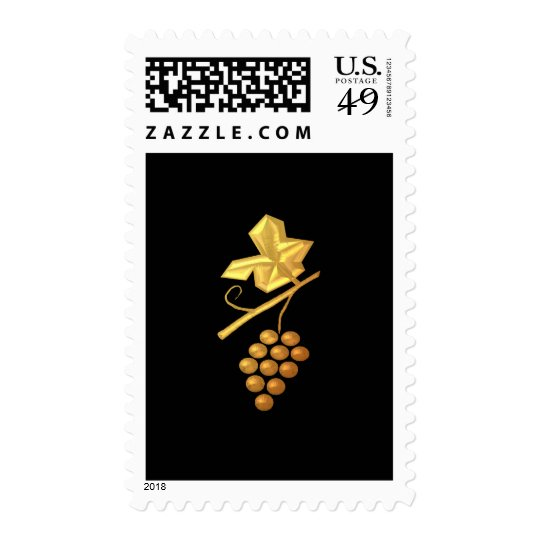 "Golden ""3-D"" Grapes Postage"