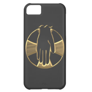 "Golden ""3-D"" Hand of God 1 iPhone 5C Case"