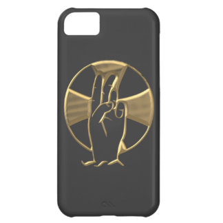"Golden ""3-D"" Hand of God 2 Case For iPhone 5C"