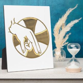 """Golden """"3-D"""" Hand of God 3 Plaque"""