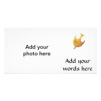 """Golden """"3-D"""" Holy Spirit Card"""
