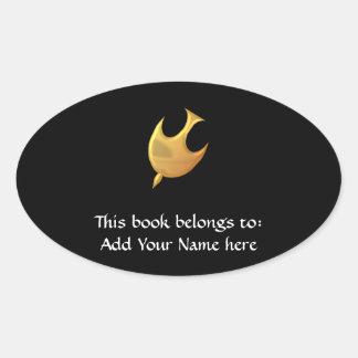 """Golden """"3-D"""" Holy Spirit Oval Sticker"""