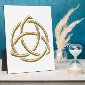 "Golden ""3-D"" Holy Trinity Symbol 2 Plaque"