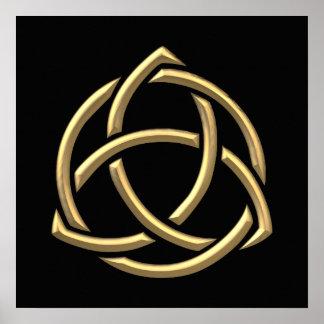 "Golden ""3-D"" Holy Trinity Symbol 2 Poster"