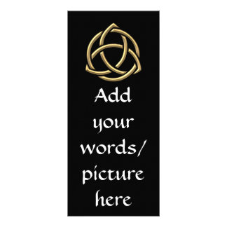 "Golden ""3-D"" Holy Trinity Symbol 2 Rack Card"