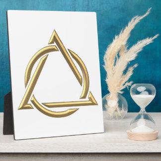 "Golden ""3-D"" Holy Trinity Symbol Plaque"